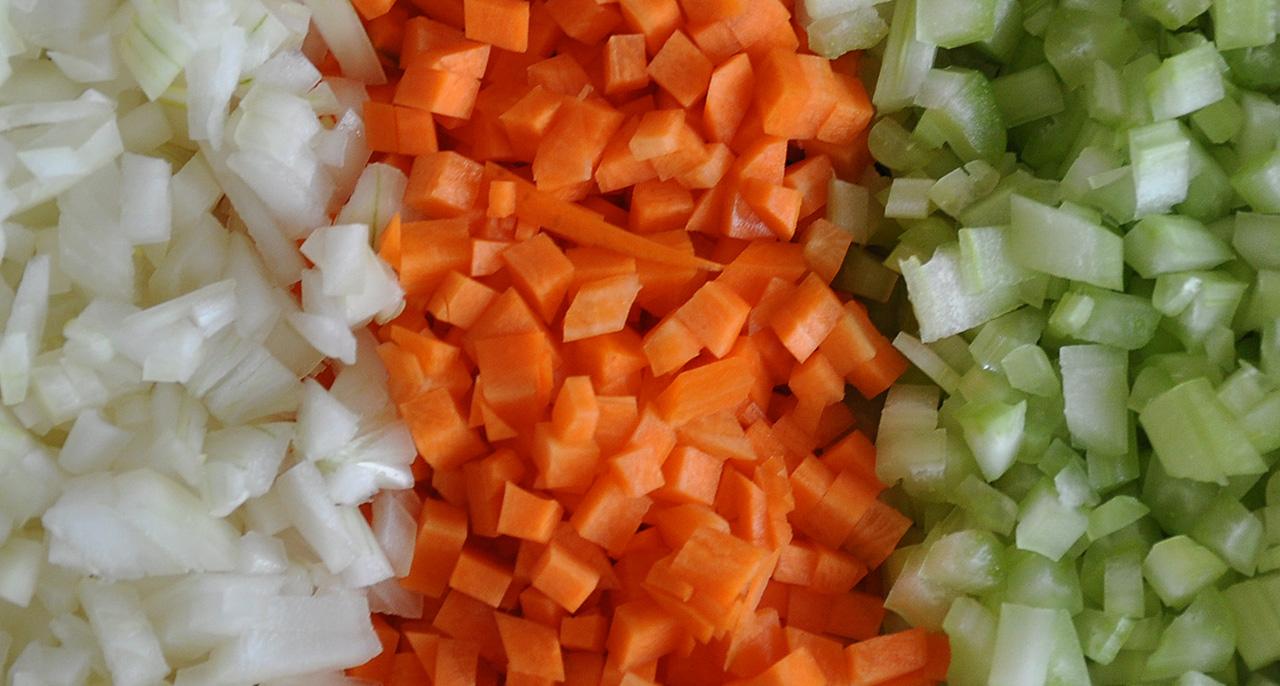 Gemüse für Ragù alla Bolognese