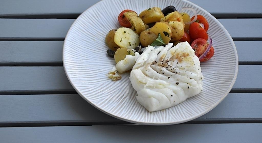 Kabeljau & Kartoffel-Kapern-Salat