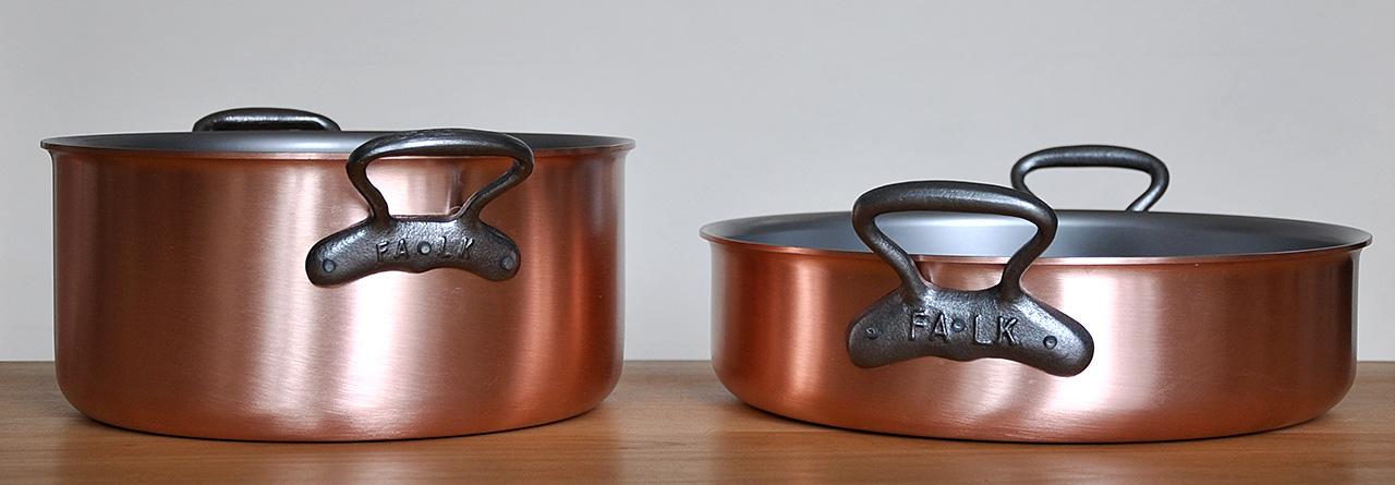 ziemlich beste t pfe falk copper cookware vogels k che. Black Bedroom Furniture Sets. Home Design Ideas