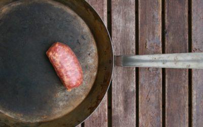 Risotto mit Salsiccia und Wintersalaten
