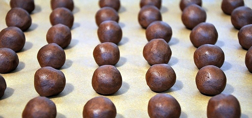 Kakaokugeln vor dem Backen