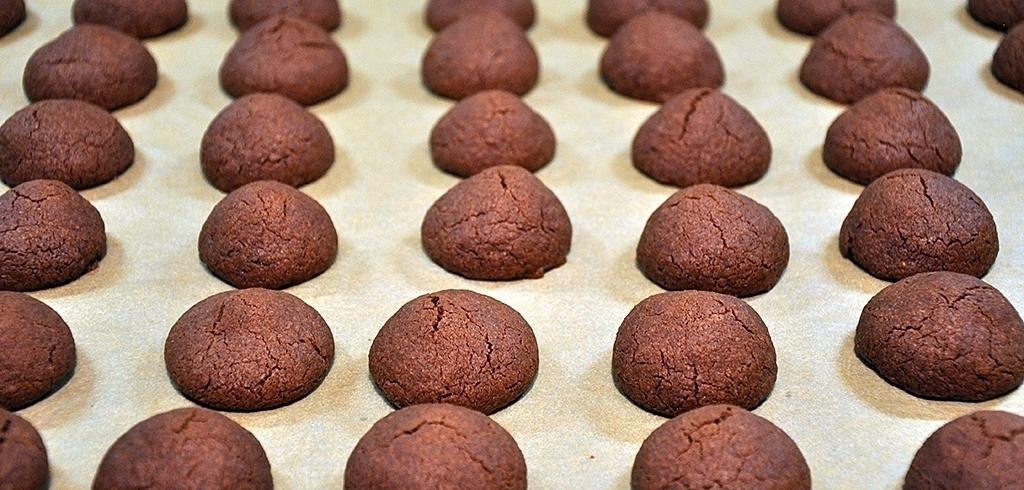 Kakaokugeln nach dem Backen