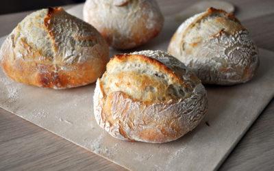 Frühstücksbrötchen – ohne Kneten!