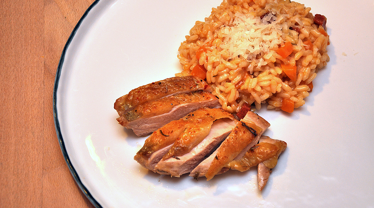 Perlhuhn_Risotto