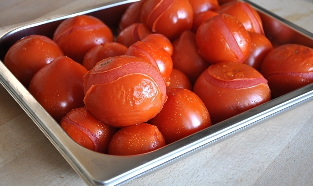 Tomaten, gehäutet