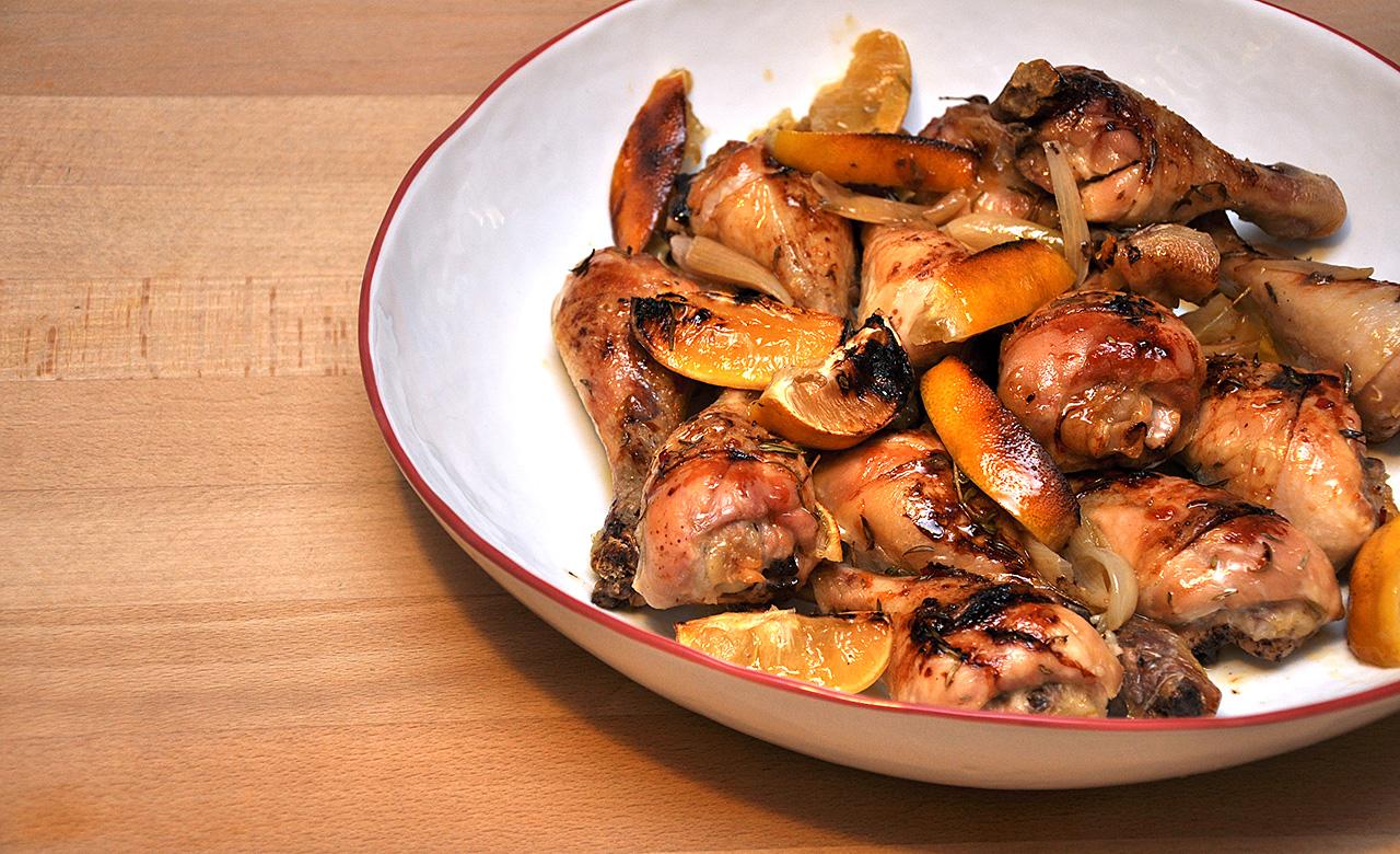 Zitronen-Hähnchen aus dem Ofen › Vogels Küche