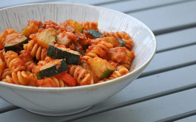 Fussili mit Zucchini & Bohnen
